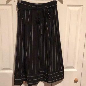 Banana Republic striped black and white long skirt